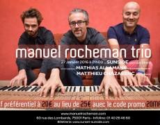 Manuel Rocheman Trio au Sunside le 27 janvier 2016
